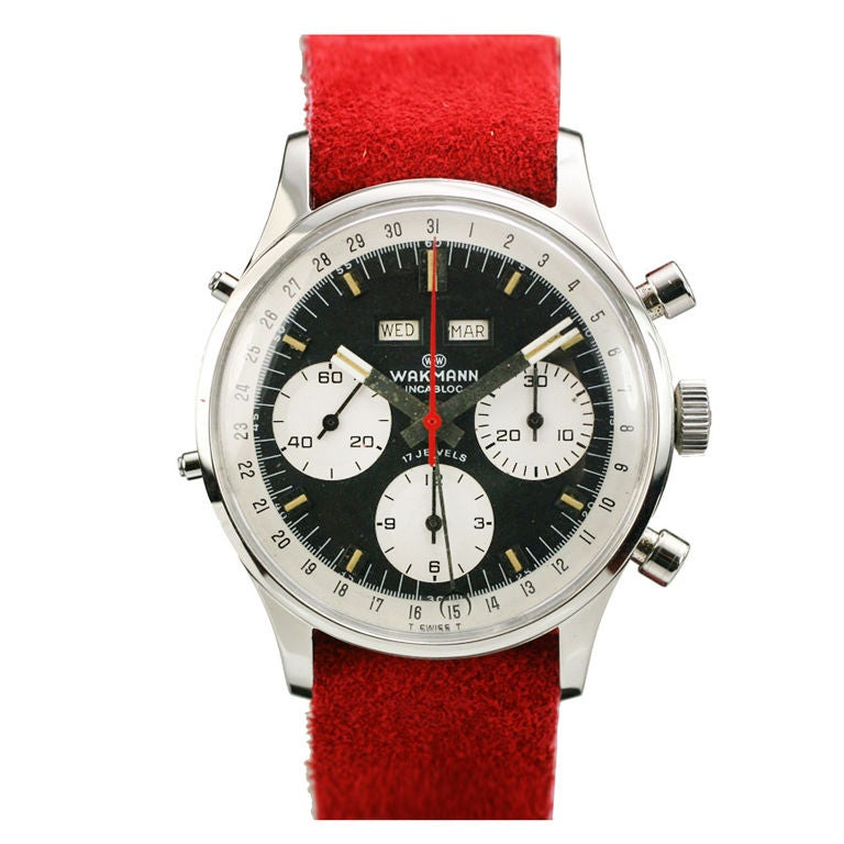 Wakmann triple date chronograph at 1stdibs for Triple j fine jewelry