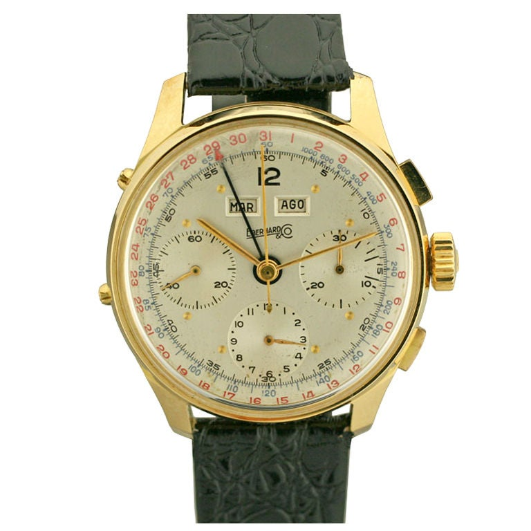 Eberhard and co triple date chronograph at 1stdibs for Triple j fine jewelry