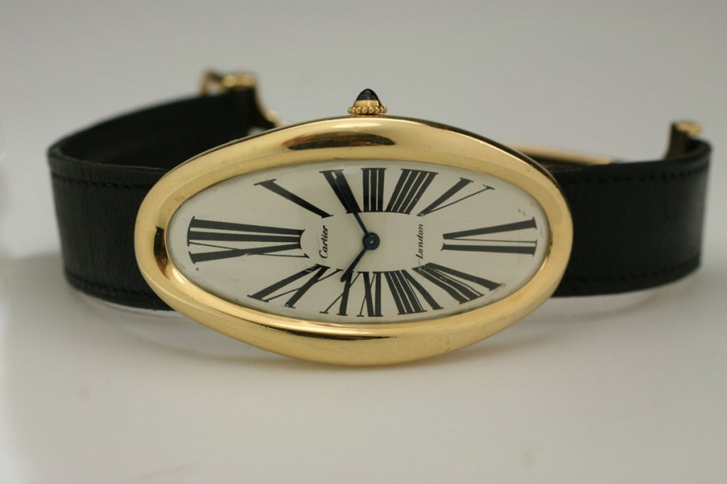 CARTIER London Maxi Oval at 1stdibs