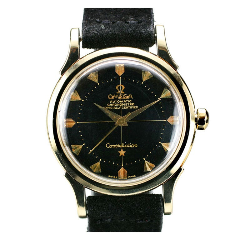 omega constellation gold watch price