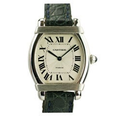 "CARTIER Paris ""Tortue"" Platinum Lady's Watch"