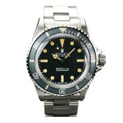 ROLEX Submariner Plastic Crystal  Ref 5513
