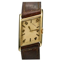 CARTIER Paris 1940's Asymmetrical Yellow Gold  Watch