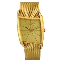 PATEK PHILIPPE Yellow Gold Asymmetric Wristwatch Ref 3424 by Gilbert Albert  circa 1960s