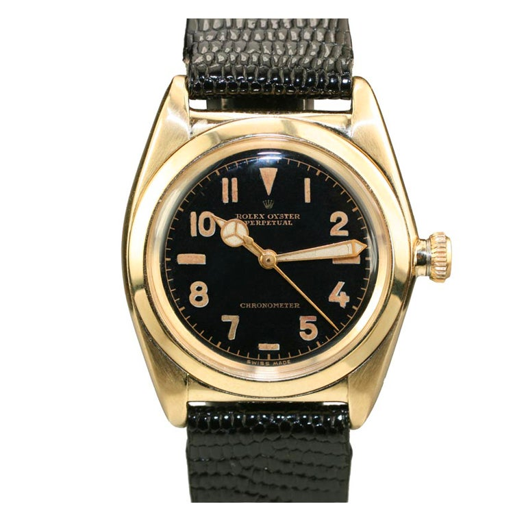 """ROLEX Gold Filled Oyster Perpetual """"Bubble Back"""" Ref 3696"""