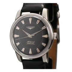 LONGINES Stainless Steel All-Guard Automatic Wristwatch c. 1950s