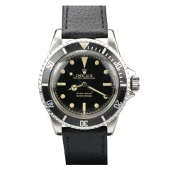 ROLEX Stainless Steel Gilt Submariner Wristwatch Ref 5512