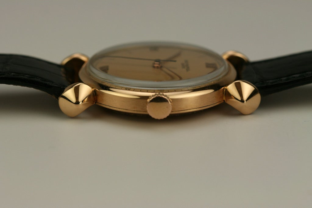 PATEK PHILIPPE Rose Gold Fancy Lug Wristwatch circa 1940s image 4