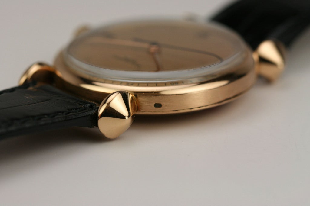 PATEK PHILIPPE Rose Gold Fancy Lug Wristwatch circa 1940s image 5