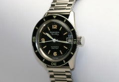 BLANCPAIN Stainless Steel Aqua Lung Wristwatch circa 1950s thumbnail 2