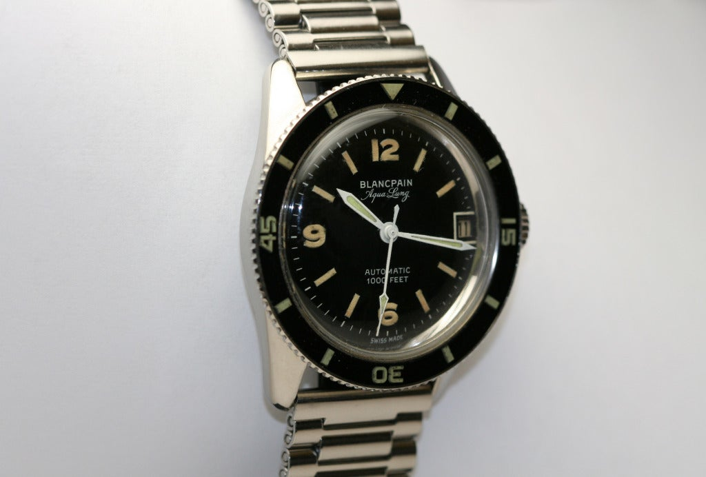 BLANCPAIN Stainless Steel Aqua Lung Wristwatch circa 1950s image 3