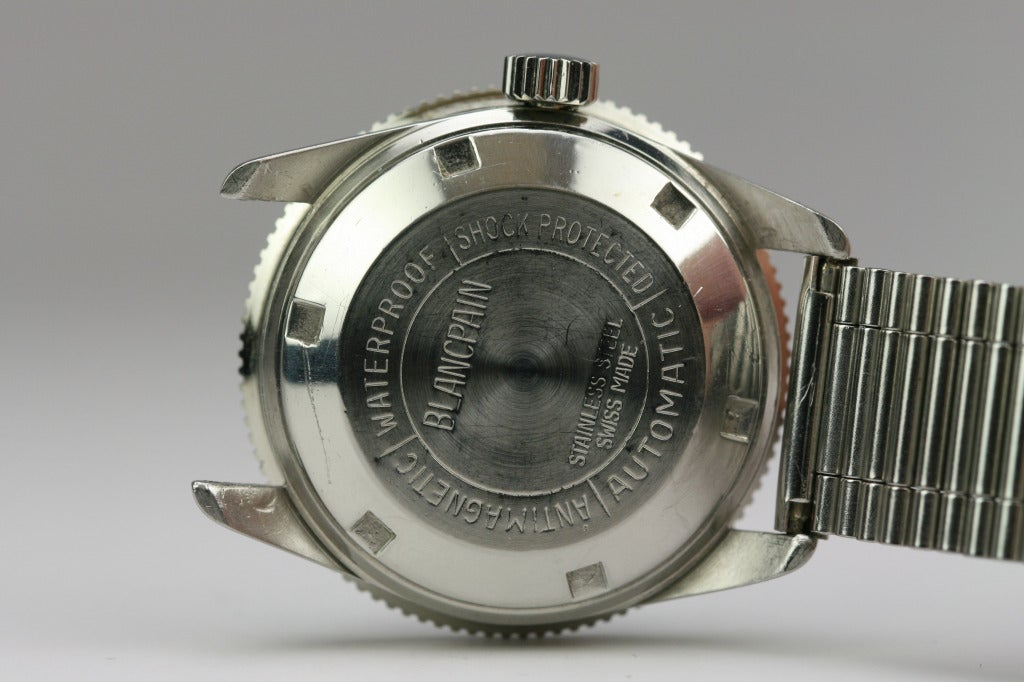 BLANCPAIN Stainless Steel Aqua Lung Wristwatch circa 1950s image 4