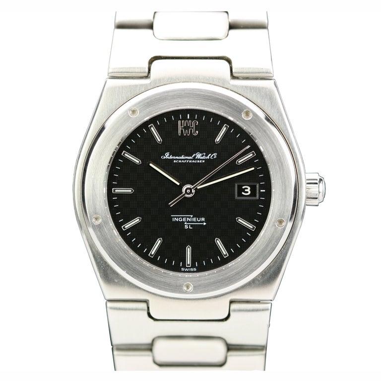 IWC Stainless Steel Ingenieur SL Tresor Wristwatch circa 1970s 1