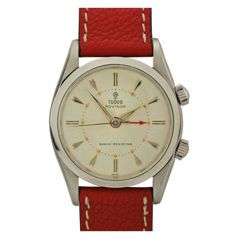 Tudor Stainless Steel Advisor Alarm Wristwatch Ref 7926