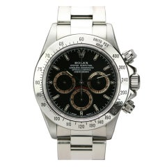 Rolex Stainless Steel Daytona Chronograph Wristwatch Ref 16520 circa 1995