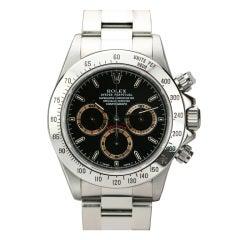 Rolex Stainless Steel Daytona Watch with Patrizzi Dial Ref 16520