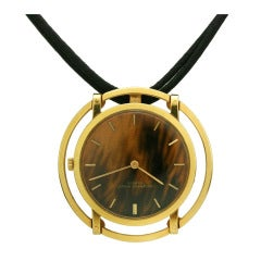 Audemars PIguet Lady's Yellow Gold Pendant Watch