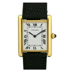 Cartier Yellow Gold Tank Wristwatch c.1970's