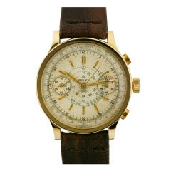 Rolex Yellow Gold Chronograph Wristwatch Ref 2508 circa 1940s
