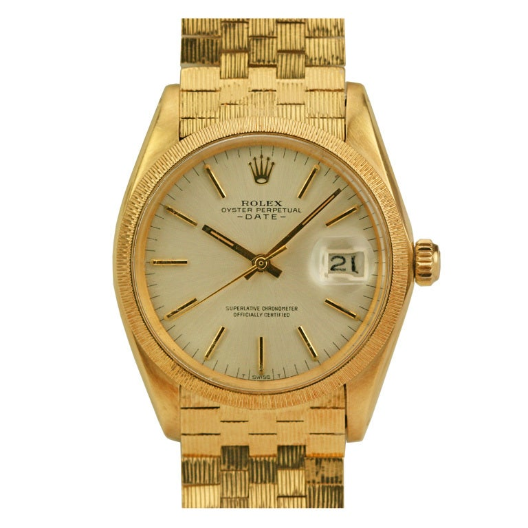 Rolex Yellow Gold Oyster Perpetual Date Automatic Wristwatch Ref 1507