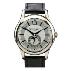 Patek Philippe White Gold Annual Calendar Wristwatch Ref 5205G