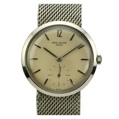 Patek Philippe Stainless Steel Calatrava Wristwatch Ref 3418
