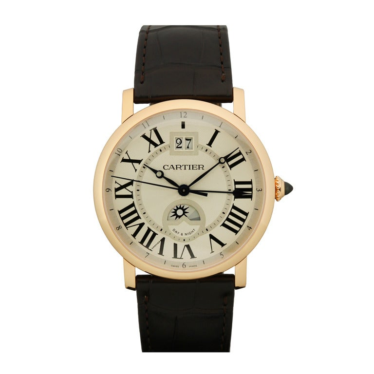 Cartier Rose Gold Privee Rotonde XL Dual Time Zone Wristwatch 1