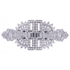 Art Deco Diamond Clips