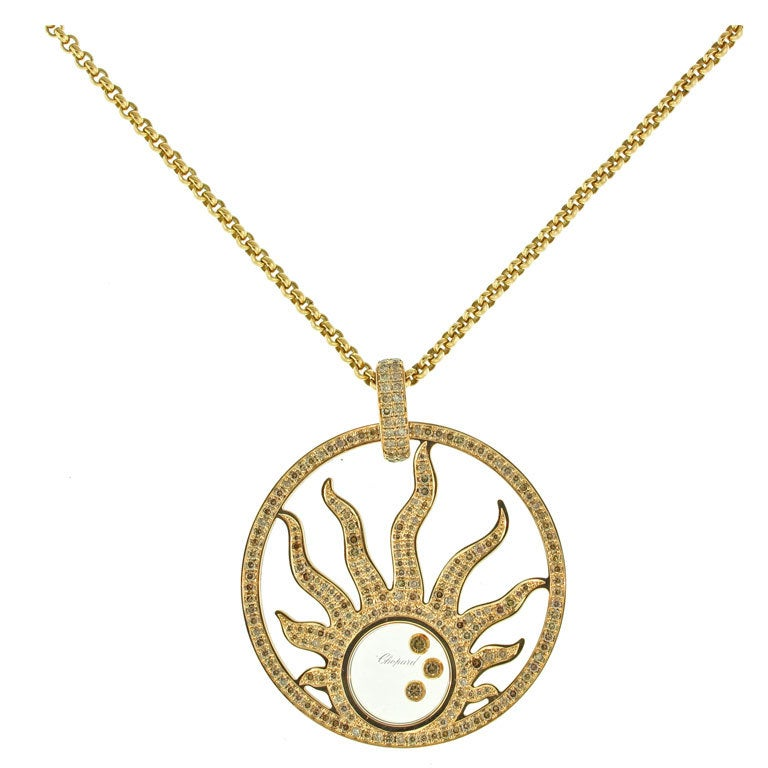 chopard happy sun necklace at 1stdibs