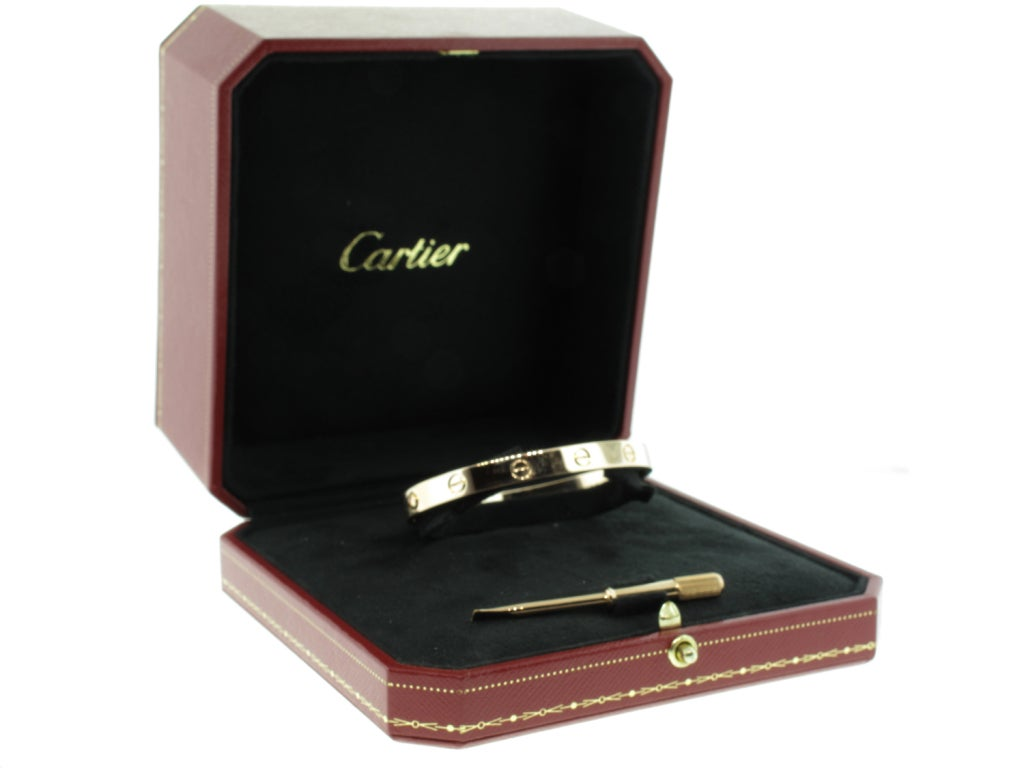 Cartier LOVE Bracelet in Rose Gold image 5
