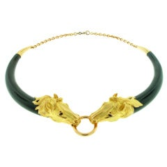 GAY FRERES Horse Head and Horn Choker