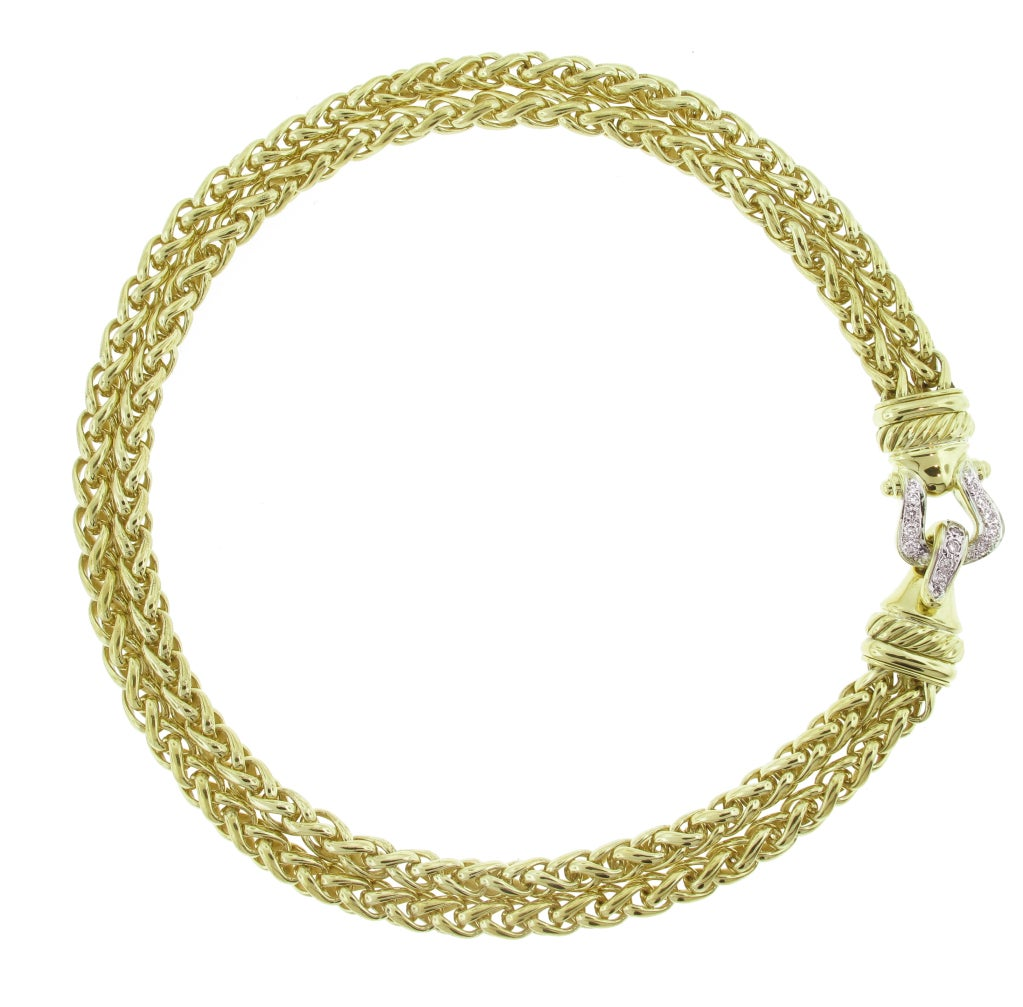 David Yurman Gold and Diamond Necklace 2