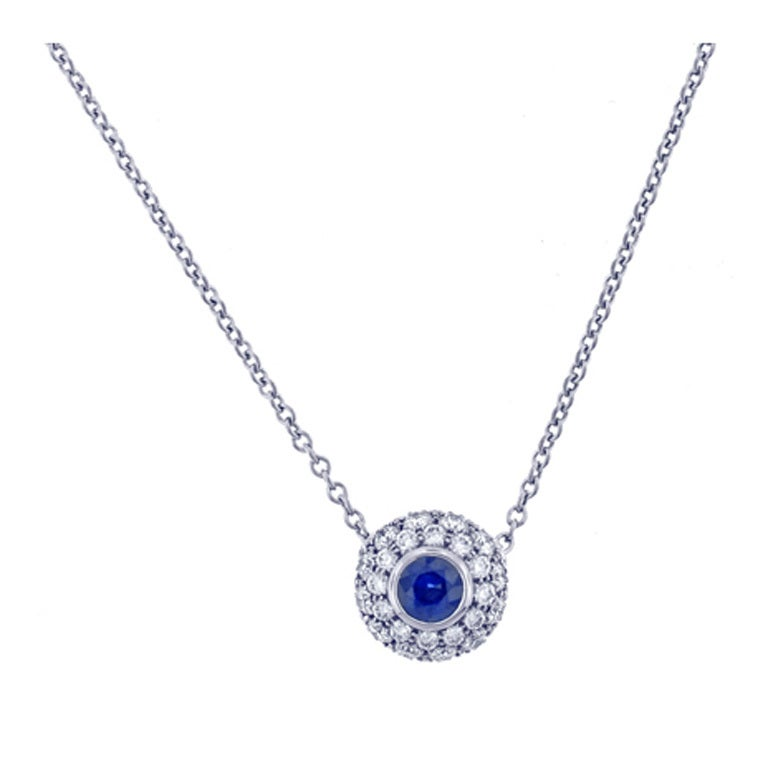 Tiffany and Co. Sapphire and Diamond pendant at 1stdibs
