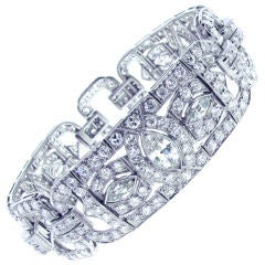 Platinum and Diamond Art Deco Bracelet