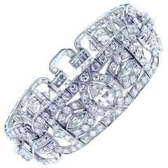 Art Deco Deco Diamond Bracelet Bracelet