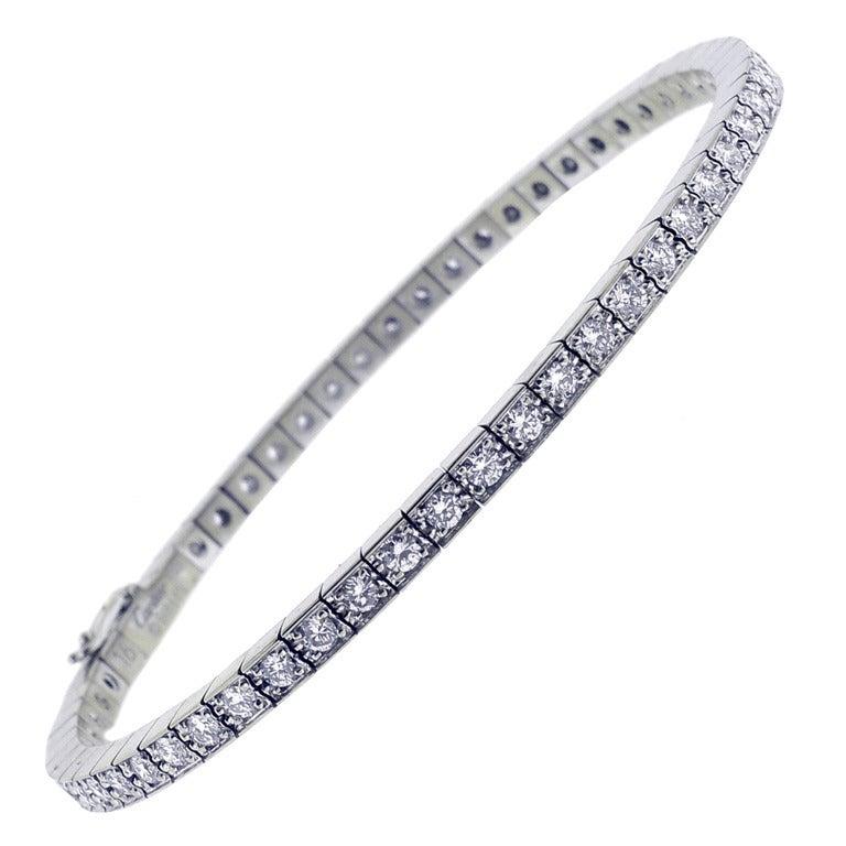 Cartier Lanieres Diamond Line Bracelet at 1stdibs