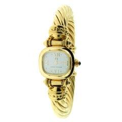 David Yurman Lady's Yellow Gold Bracelet Watch