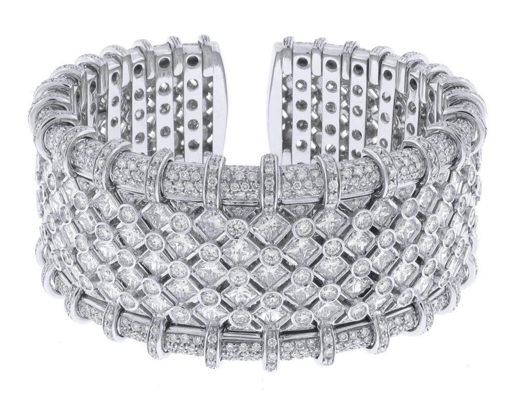 R.C.M. Diamond Cuff Bracelet 4
