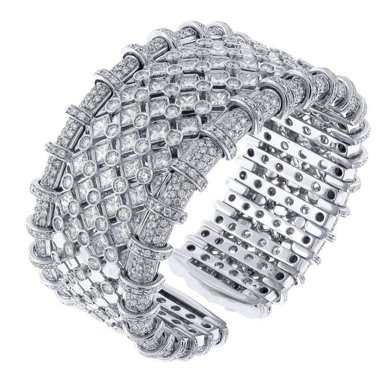 R.C.M. Diamond Cuff Bracelet 1