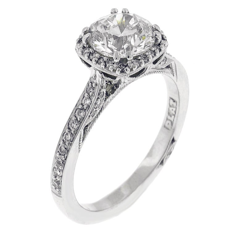 Tacori Dantela Diamond Engagement Ring at 1stdibs
