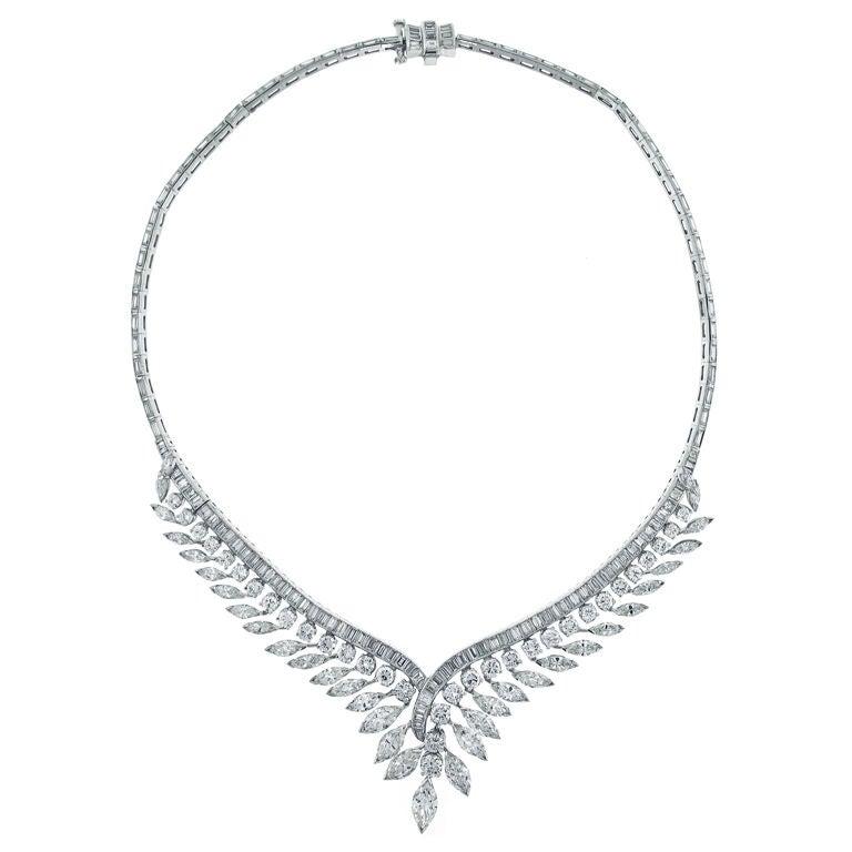 1960s Julius Cohen Diamond Necklace