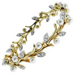 Tiffany Garland pearl and diamond bracelet
