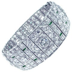 Diamond  Platinum  Art Deco Bracelet