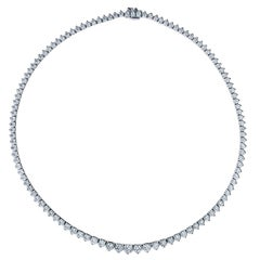 A Link Diamond Riviera Necklace