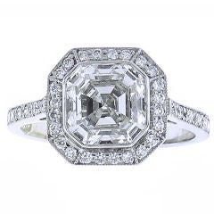 Asscher Cut Diamond Ring.