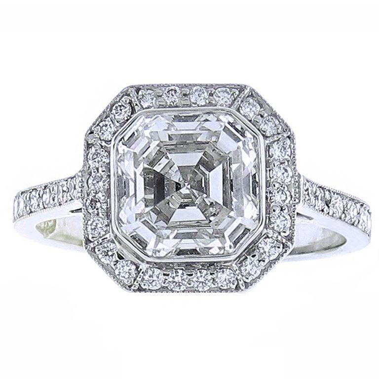 Asscher Cut Diamond Ring.