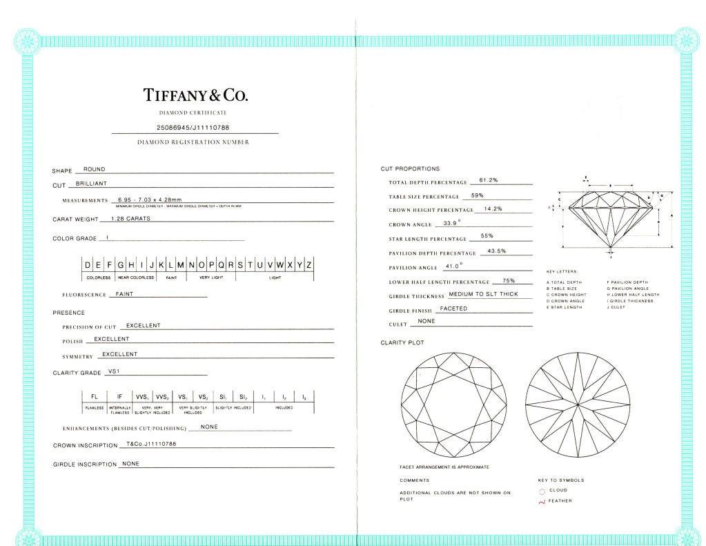 TIFFANY Classic Diamond Engagement Ring 4