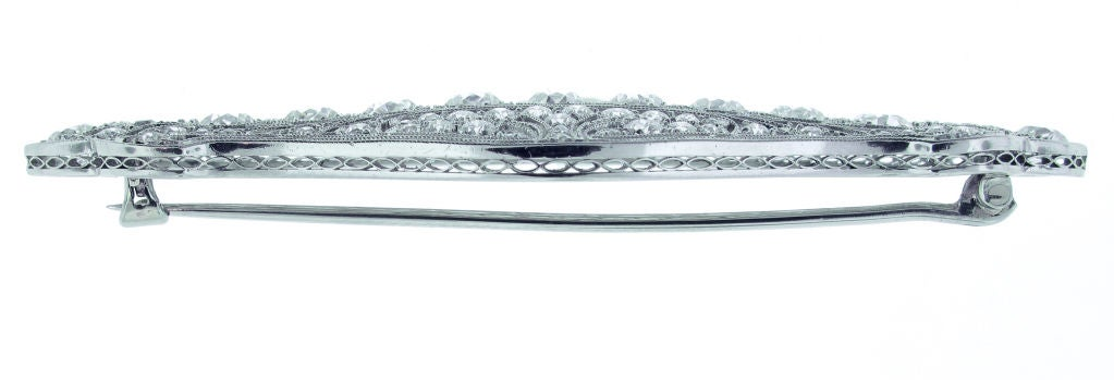 Belle Époque TIFFANY & CO. Belle Époque Diamond Brooch For Sale