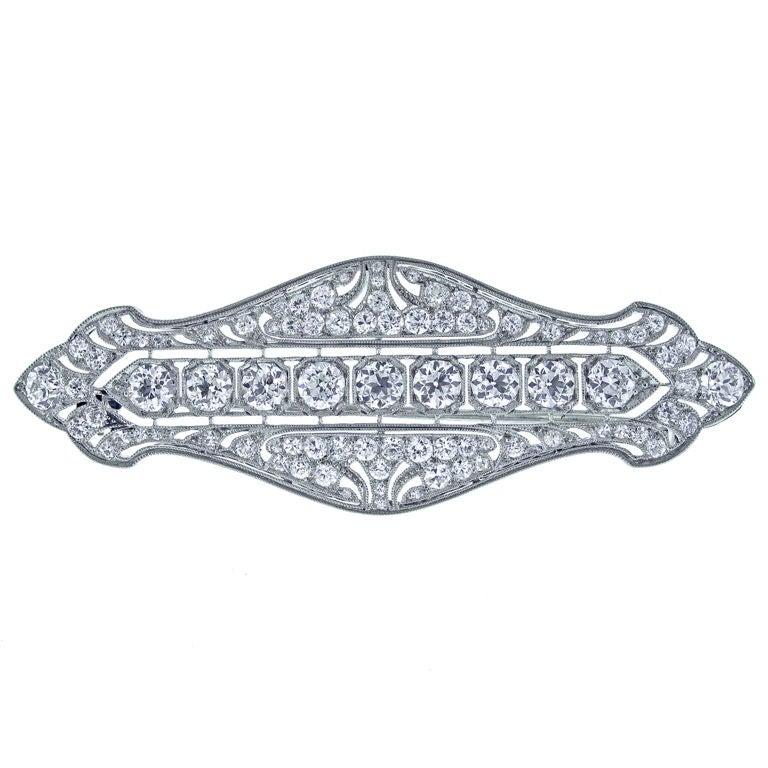 TIFFANY & CO. Belle Époque Diamond Brooch For Sale