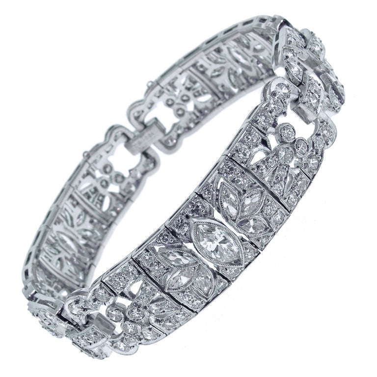 Art Deco Diamond Bracelet For Sale